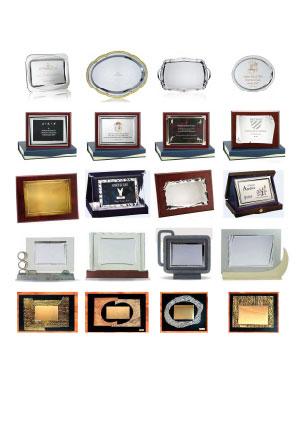 Catálogo de Placas de Homenaje y Bandejas