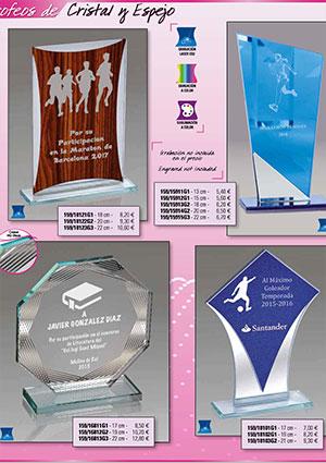 Catálogo de Trofeos de Cristal y Metacrilato