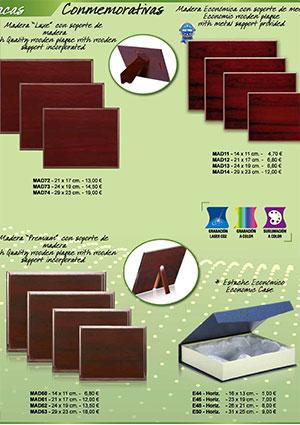 Catálogo de Placas y Bandejas
