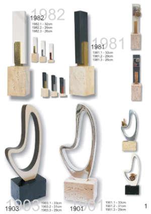 Catálogo de Trofeos de Esculturas